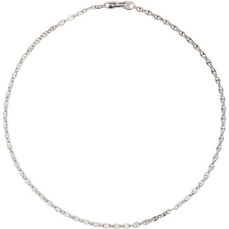 Tom Wood Silver Bean Chain Necklace