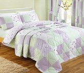N. Dreams 'n' Drapes, Patchwork Bedspread, Lilac, Double