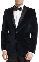 HUGO BOSS Haimon Velvet Dinner Jacket, Navy