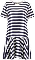 Bench Jersey dress bright white/maritime blue