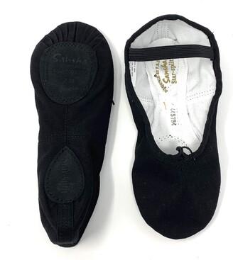 Sansha Unisex-Kid's 15C Star-Split Black M Medium Sizes AD Ballet Flat M M BR Big Kid (6.5 US)