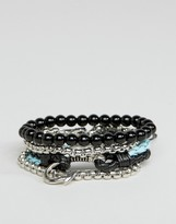 Aldo Beaded Bracelets In 4 Pack