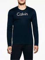 Calvin Klein Platinum Embossed Logo Long Sleeve Shirt