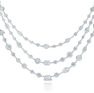 Kwiat platinum diamond Allure 3-Row necklace