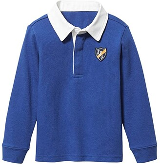 Janie and Jack Long Sleeved Rugby Tee (Toddler/Little Kids/Big Kids) (Blue) Boy's Clothing