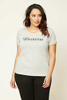 Forever 21 FOREVER 21+ Plus Size Whatever Tee