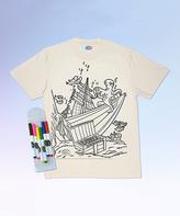 White Shipwreck Tee & Washable Markers - Kids