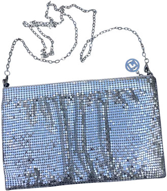 Paco Rabanne Silver Leather Handbags