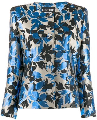 Moschino floral jacquard jacket