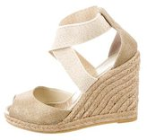 Jean-Michel Cazabat Metallic Espadrille Wedges