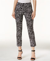Alfani Petite Printed Capri Pants, Created for Macy's