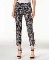 Alfani Petite Printed Capri Pants, Only at Macy's