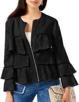 I.N.C International Concepts Petite Linen Ruffled Jacket