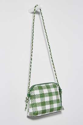 Loeffler Randall Mallory Woven Crossbody Bag By in Green Size ALL
