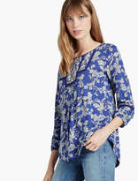 Lucky Brand Floral Bib Top