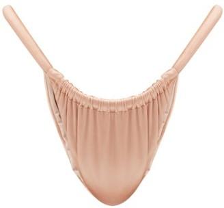 Isa Boulder Joni Ruched High-cut Bikini Briefs - Dark Pink
