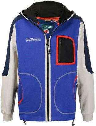 Napapijri Hooded Colour Blocked Jacket