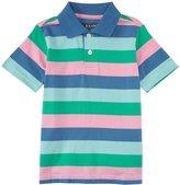 E-Land Kids Stripe Polo (Toddler/Kid) - Preppy Pink-6