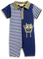 First Impressions Monster Striped Polo Sunsuit