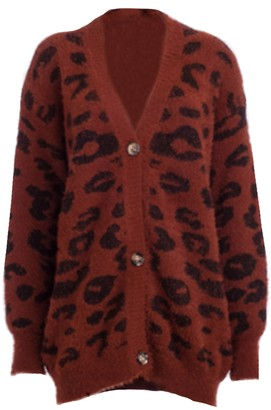Goodnight Macaroon 'Melody' Leopard Print Fluffy Cardigan (5 Colors)