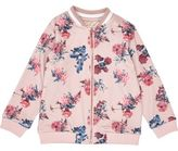 River Island Mini girls pink floral print bomber jacket