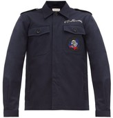 Alexander McQueen Cotton-gabardine Field Jacket - Mens - Navy