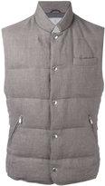Brunello Cucinelli padded vest - men - Silk/Linen/Flax/Nylon/Goose Down - XXL