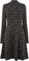 Warehouse Leopard Jacquard Polo Dress