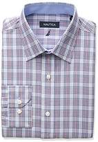 Nautica Men's Regular Fit Multi Plaid Dress Shirt