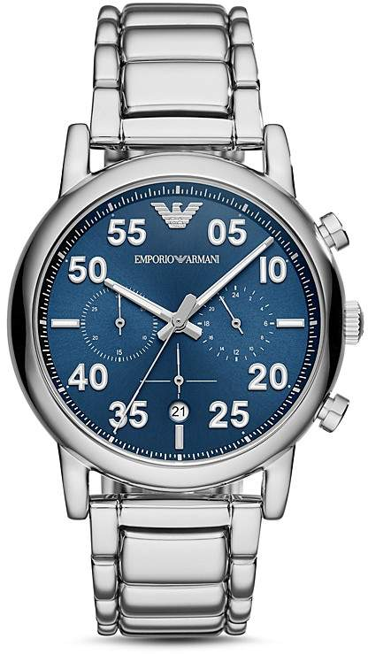 Emporio Armani Stainless Steel Sport Chronograph, 43mm