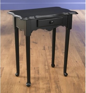 AA Importing End Table with Storage Color: Black
