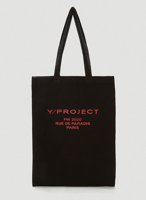 Y/Project Contrast Scarf Print Tote Bag