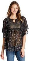 Jessica Simpson Tie Front Maternity Blouse