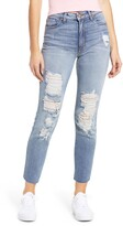 Thumbnail for your product : STS Blue Caroline Ripped High Waist Straight Leg Jeans