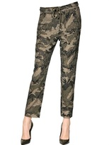 Camouflage Printed Lace Carpi Trousers