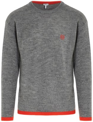 Loewe Anagram Embroidered Crewneck Sweater