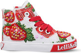 Lelli Kelly Kids Strawberry sequinned canvas trainers 3-9 years