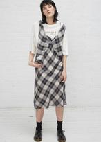 R 13 grey plaid overlay dress w boyfriend tee