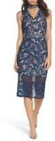 Cooper St Women's Alessandra Lace Choker Midi Dress
