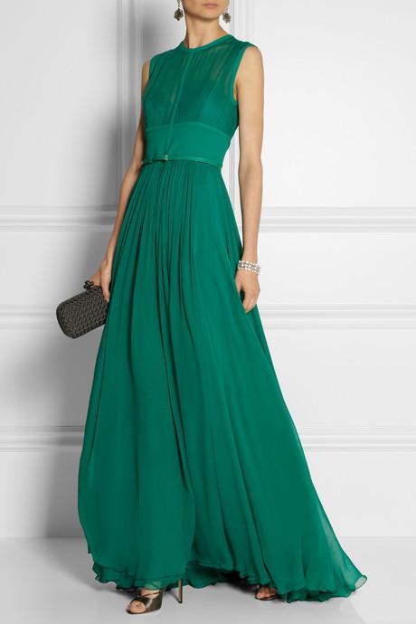 Elie Saab Stretch silk-blend chiffon gown