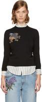 Alexander McQueen Black Griffin Pullover