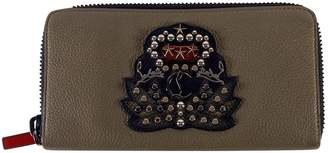 Christian Louboutin Panettone Khaki Leather Wallets
