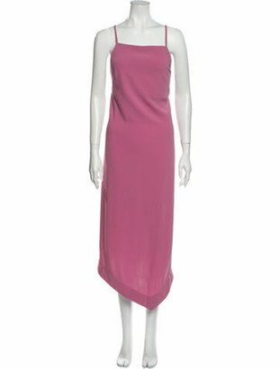 Nomia Square Neckline Long Dress w/ Tags Pink