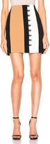 David Koma Loops & Metal Balls Front Detailing Mini Skirt