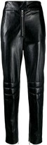 MSGM leather look trousers