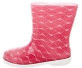 Armani Junior Girls' Logo Rain Boots