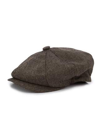 House Of Cavani Herringbone Flat Cap Colour: BROWN, Size: S-M