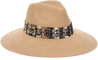 Eugenia Kim Emmanuelle Tweed-trimmed Wool-felt Fedora
