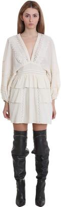 IRO Figons Dress In White Cotton
