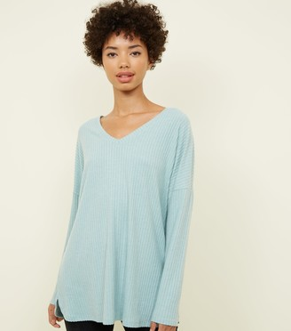 New Look Ribbed Brushed Jersey Top